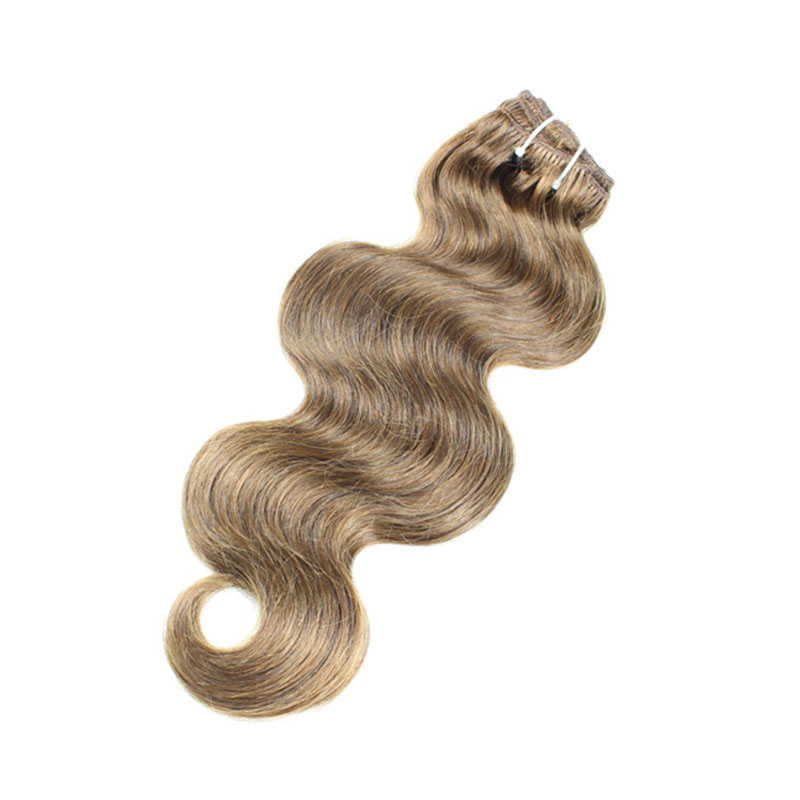 Colored  weft Human Virgin Hair  Body Wave  Extension  Bundles with Lace Closure YL309