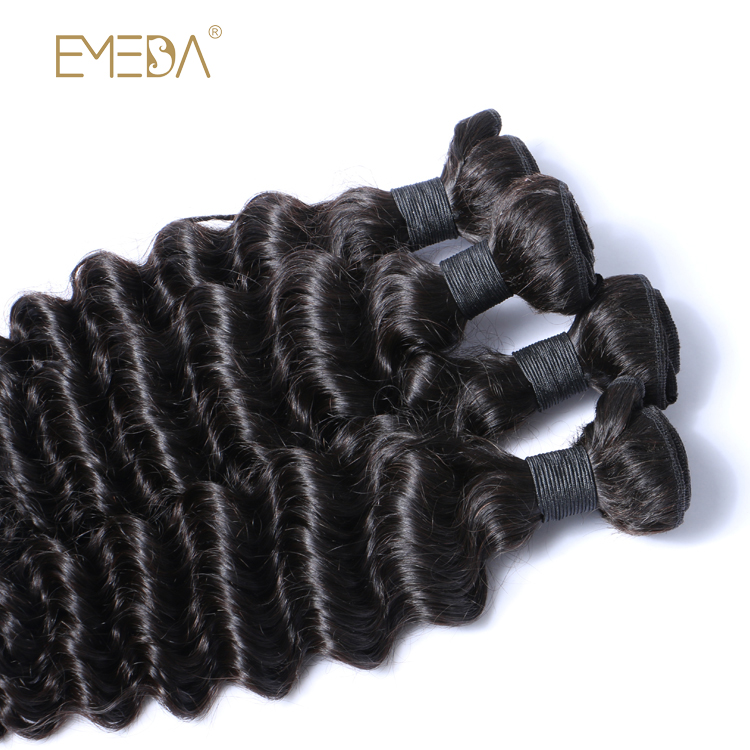 Hot Sale  Deep Wave 100% virgin Human Hair Extensions YL223