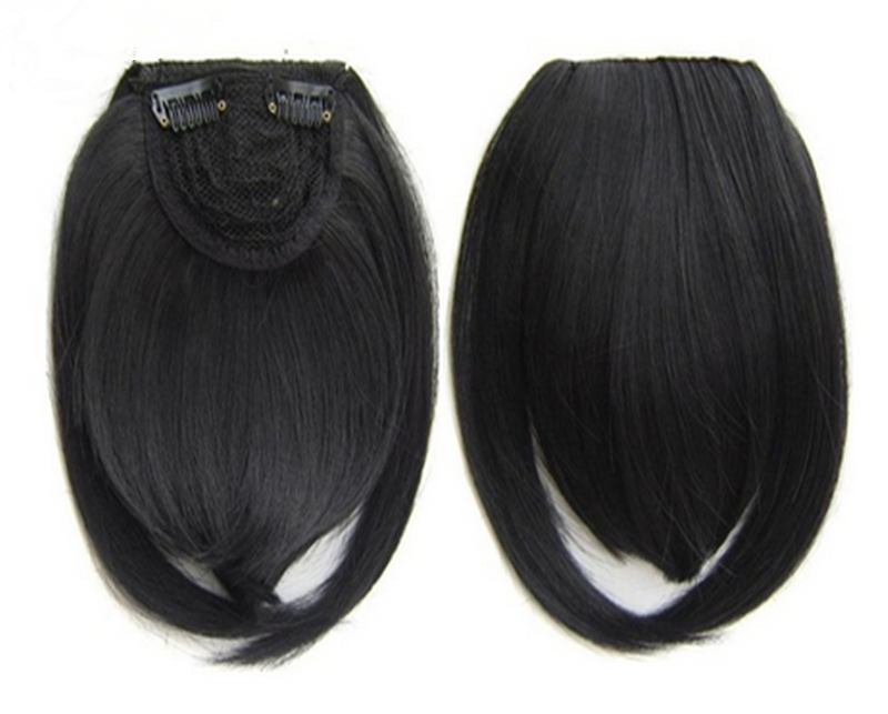 clip in human hair bang heat resistance neat front fringe hair extension WK118