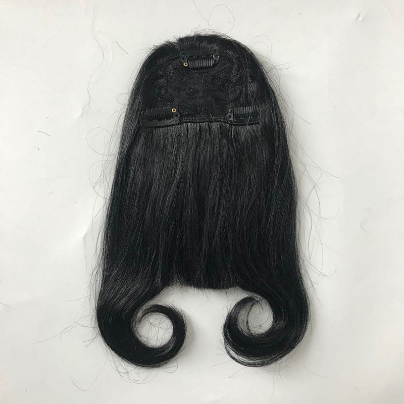 #1 Jet Black Machined Bangs Natural Hair Manufacturer WK171