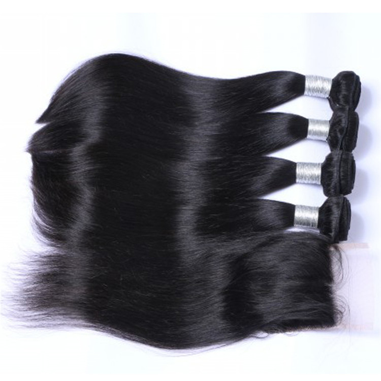 Indian Hair Bundles with Closure Large Stock Hair Extensions      LM035