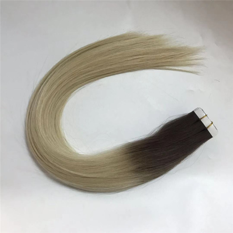 Walker Tape Hair Extension Ombre Color Light Brown and Ice Blonde WK105