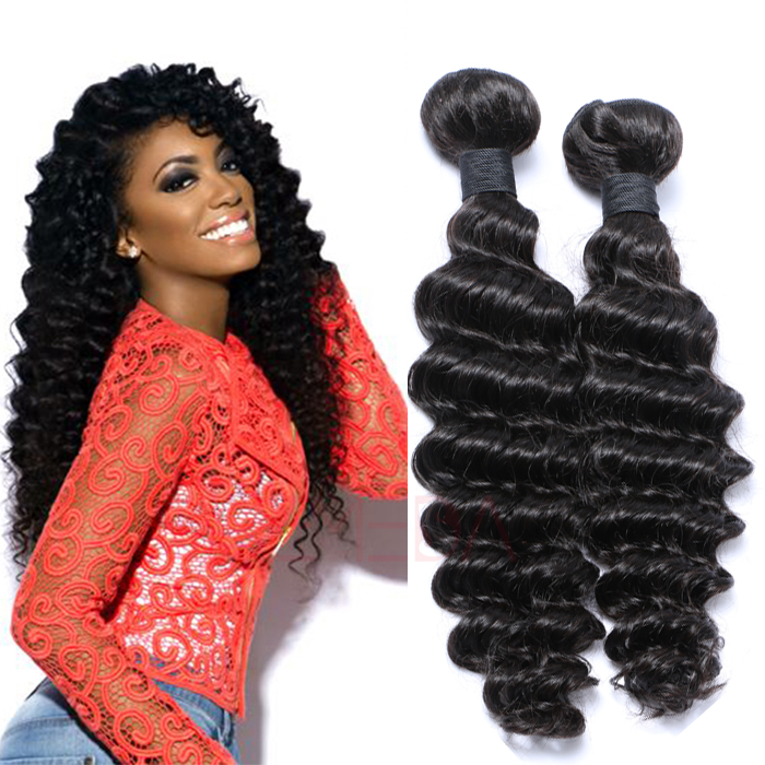 EMEDA Hotsale Human hair extensions deep Curly Peruvian hair  HW032