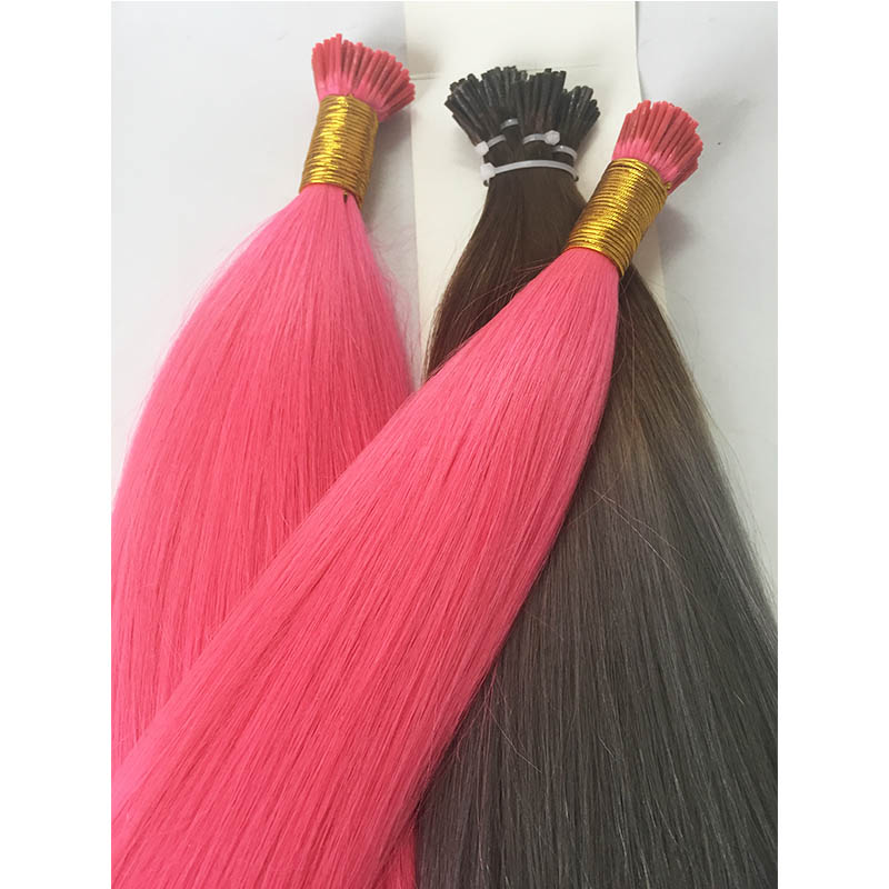 Pink silver browm I Tips Keratin Hair Extensions   Real Human Hair Extensions YL496