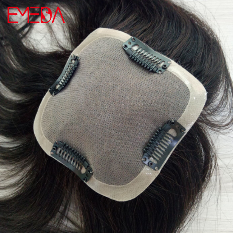 White woman hair toppers hair pieces toupees customized closure for women WK196