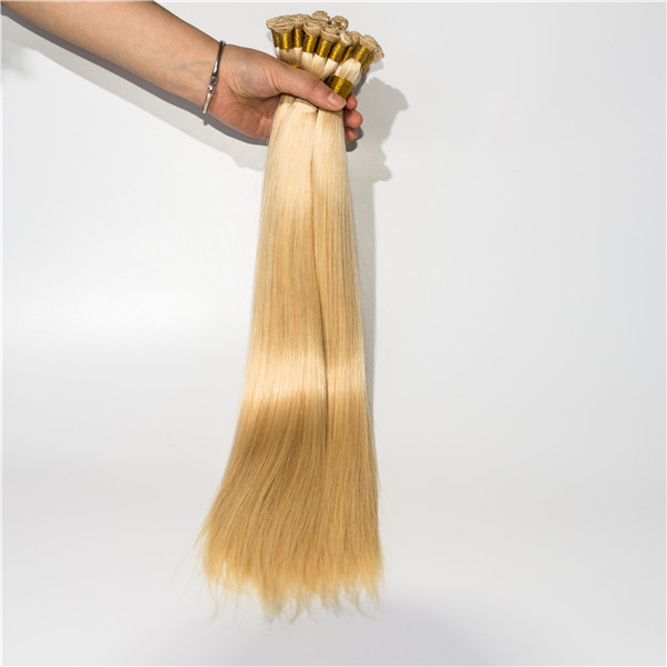 Remy Human Hair Extension Tangle Free Double Drawn Handtied Weft Grade Hair Extension  LM423