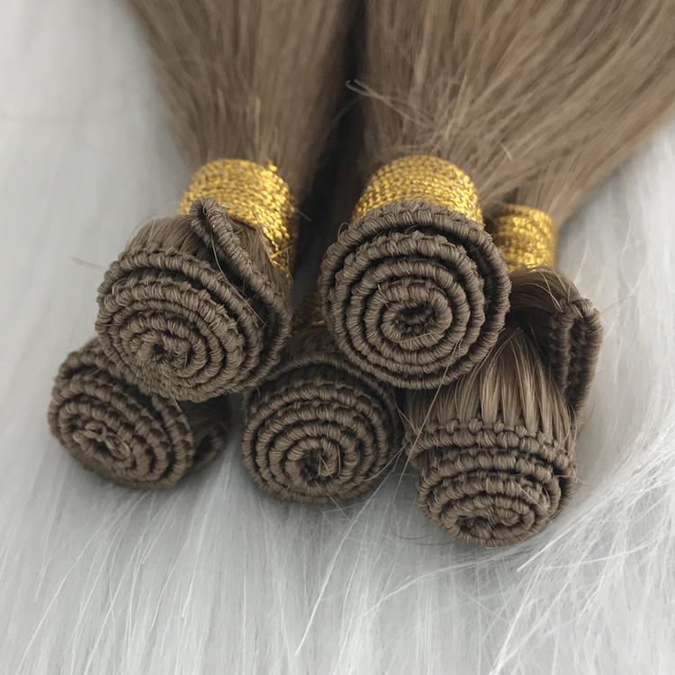 Hand tied seamless hair extensions china remy hair weft extension manufacturers yj278