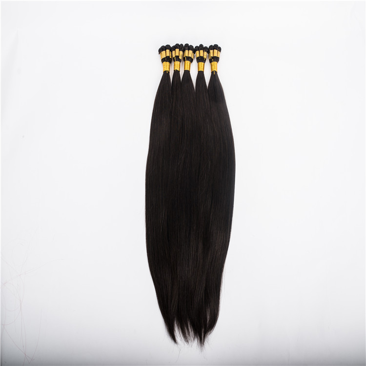 Hand Tied Weft Hair Extension Thin Band Virgin Hair WK035