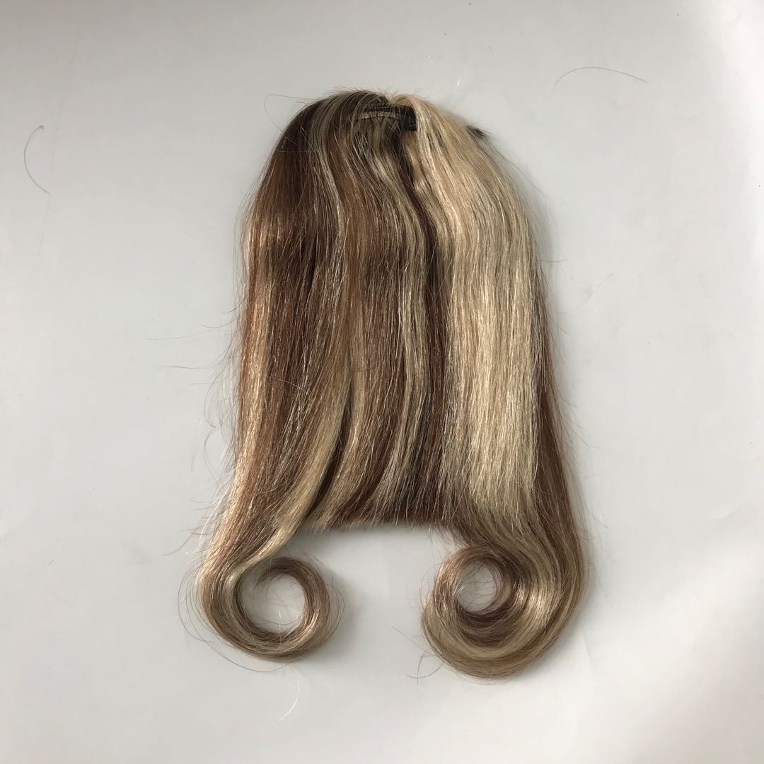 Hightlight Bangs Middle Brown and Blonde 613 Color Hair Manufacturers WK175