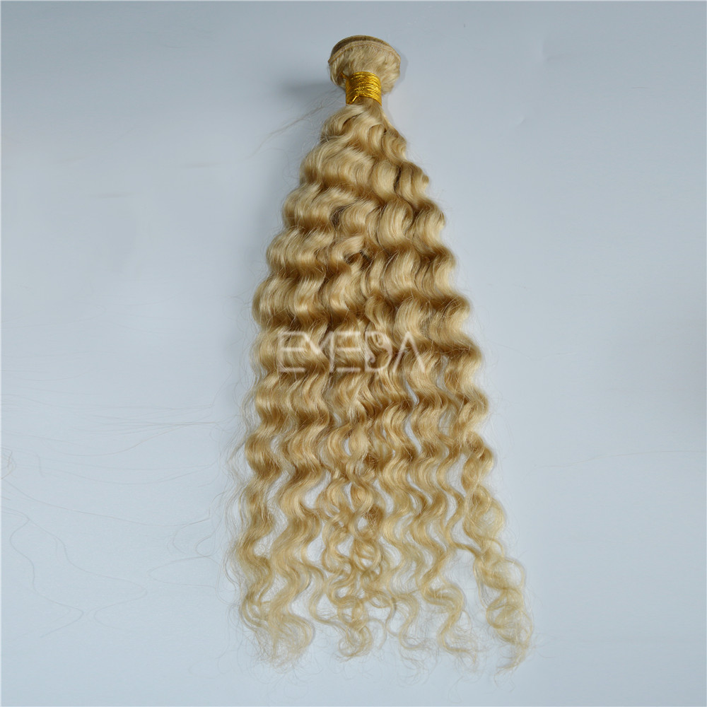 Grade 8a Deep Wave Blonde Hollywood Hair Weave Extensions Yj136