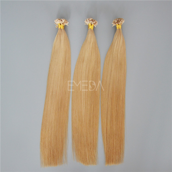 how to put in pre bonded hair extensions YJ138