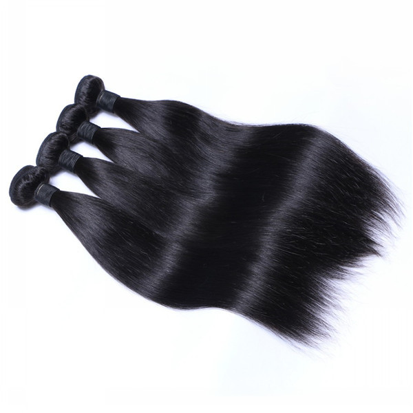 Raw Indian Straight Human Hair Weave Cuticle Aligned Hair Weft Top