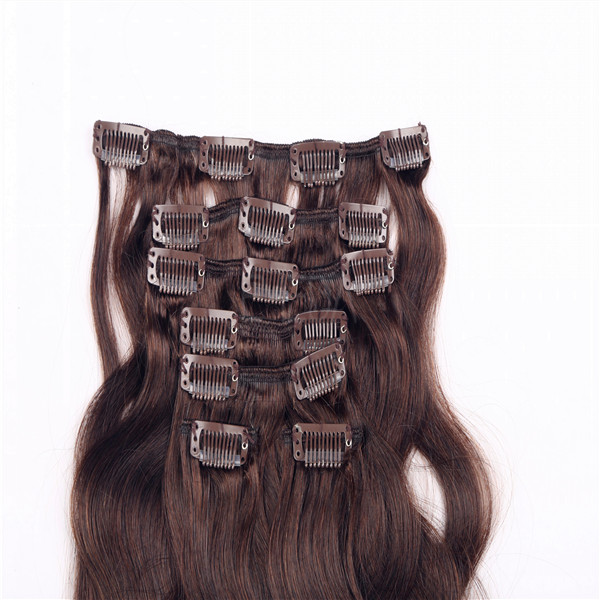 Clip In Hair Extension Human Remy Hair In Stock Curly Extensions Emeda Factory Hair  LM261