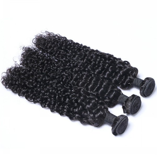 Virgin hair Brazilian hair weave kinky curl style with full cuticles YL083