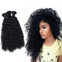 Peruvian hair human hair weave afro kinky curl lace closure with bundles Hw00110
