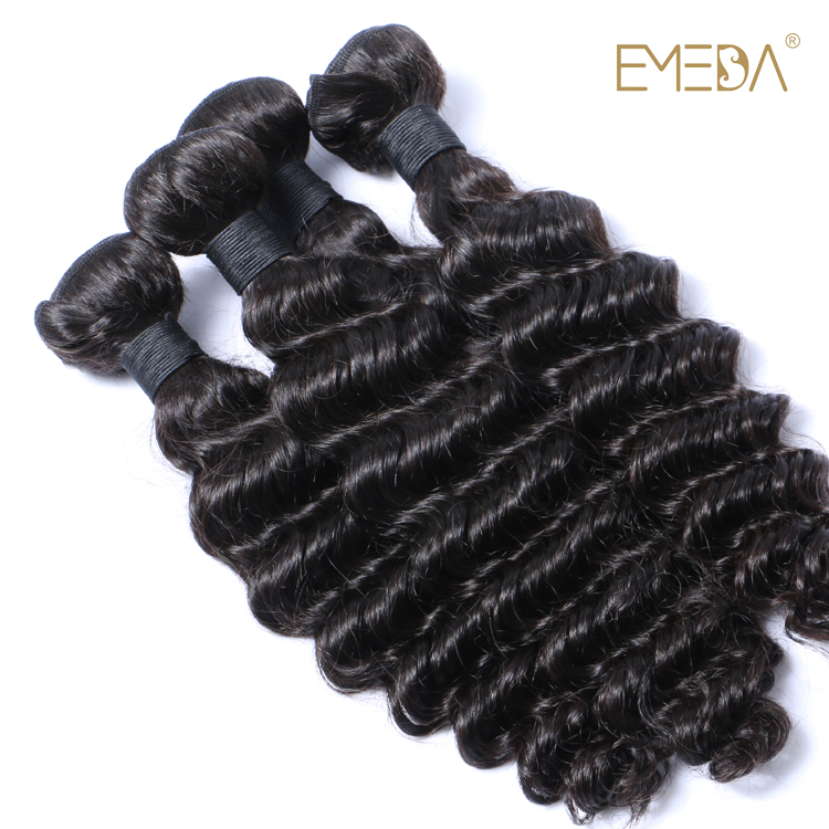 Pre-bonded hair extensions virgin human hair 100% wholesale virgin brazilian hair Deep wave YL044