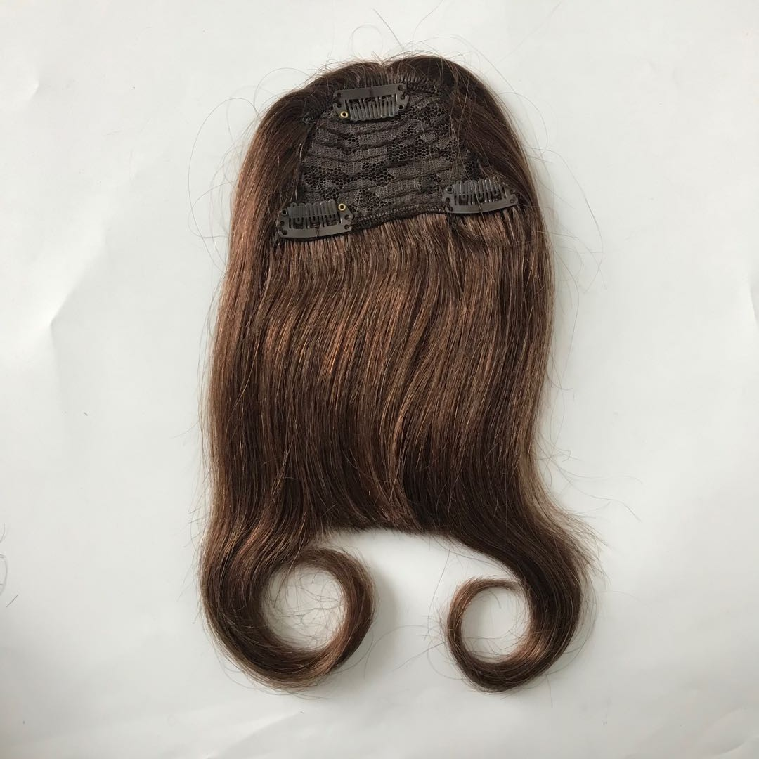 Human Hair Bangs with Clip Easy to Use Middle Brow...</>