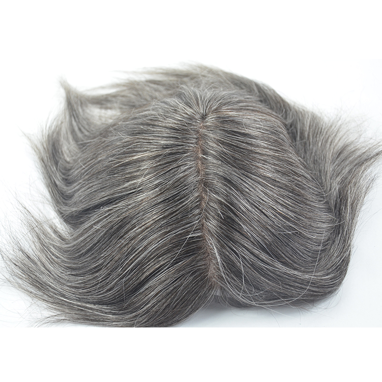 Mens glue on hair peace for men toupee hairpiece SJ00215