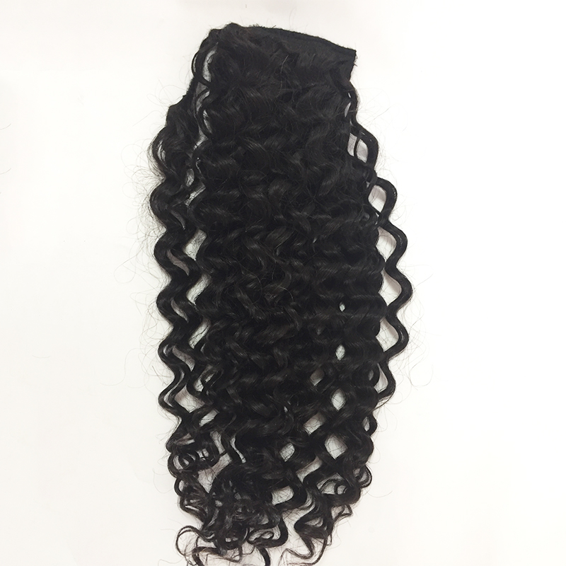 Top quality  fashion curly Straight d human hair ponytail YL408