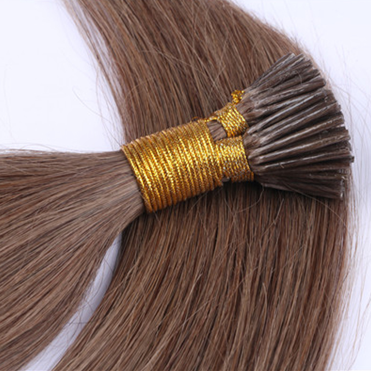 China Double Drawn Keratin Hair Extension Factory Wholesale Italy Glue I Iip Hair Extensions LM420