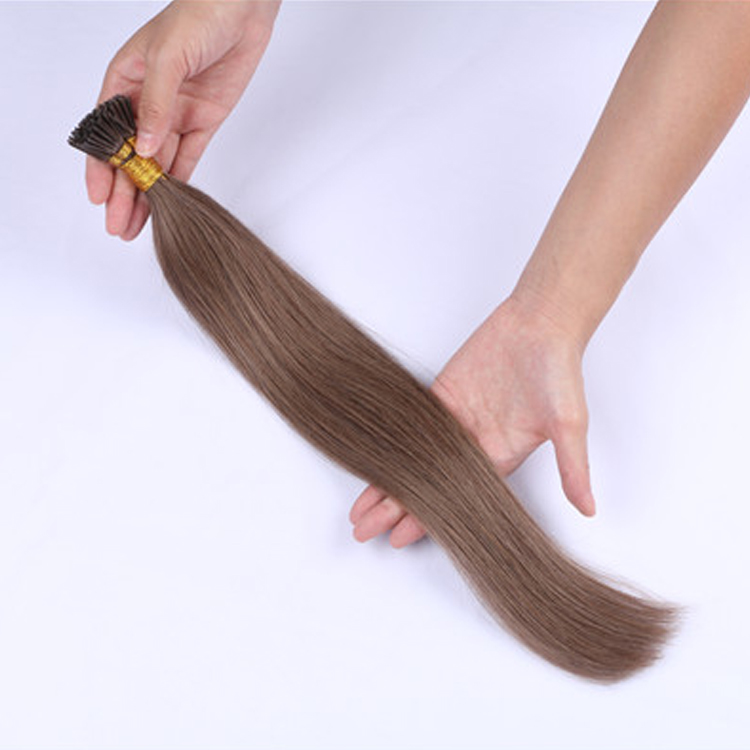 China Pre-bonded Human Hair Extensions Keratin I Tip Brazilian Hair Extensions  LM302