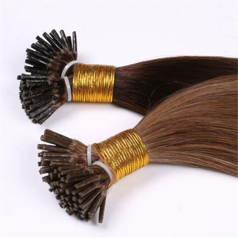 Wholesale remy human i tip hair extensions WK066