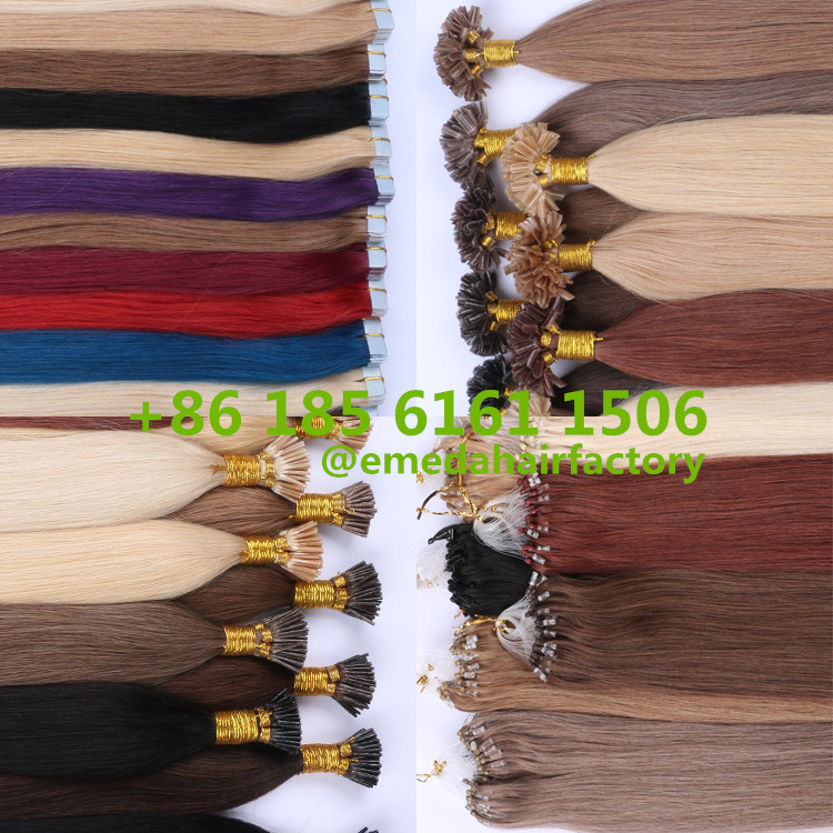 EMEDA virgin cuticle hair  extensions wholesale.jpg