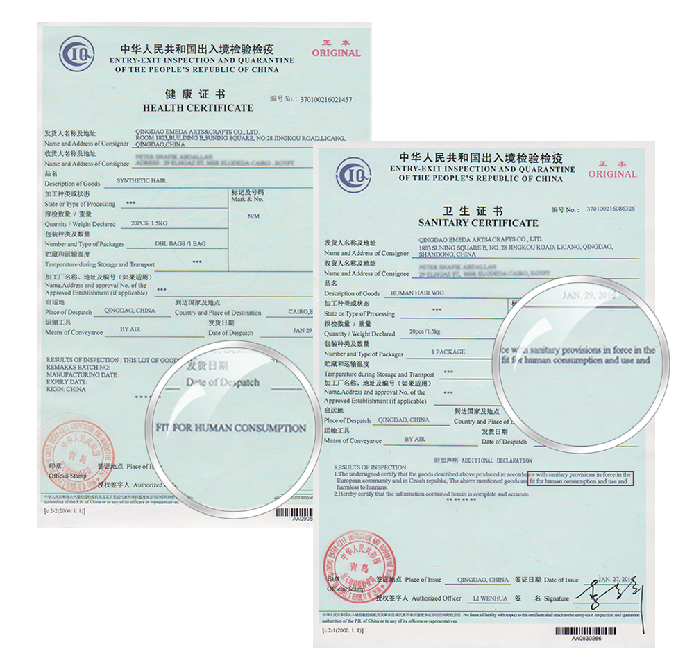 1 Healthy certificate and Sanitary certificate.jpg