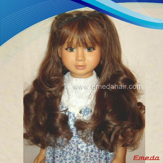 Human Hair Doll Wig 4 Emeda Hair