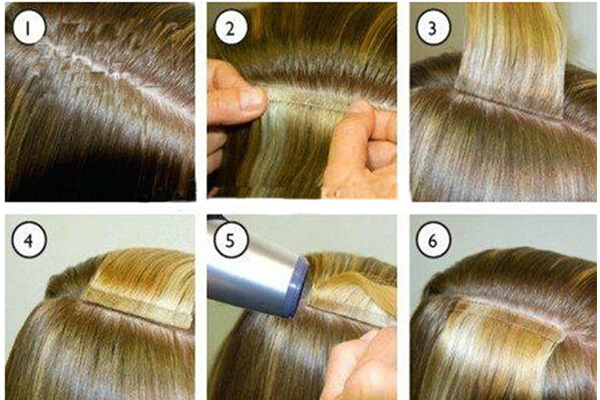 How to apply tape or skin weft hair extensions emeda hair it doesnt matter so much for clip ins but remember these are in your hair permanently meaning you wash them and apply heat to them as much as you would pmusecretfo Gallery