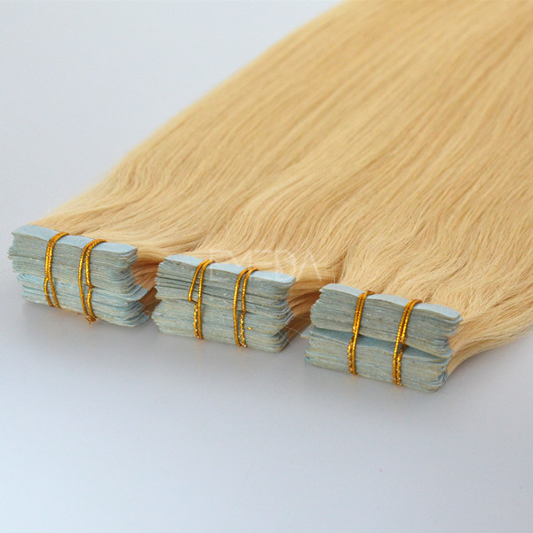Heze factory hot sale double drawn tape hair extensions #8 ---lp101