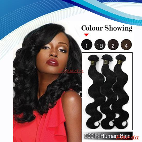 Hot selling natural color wholesale cheap virgin body wave brazilian human hair extension
