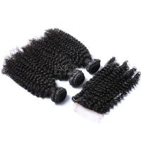 Overseas brazilian indian remi hair weave kinky curl with closure YJ231