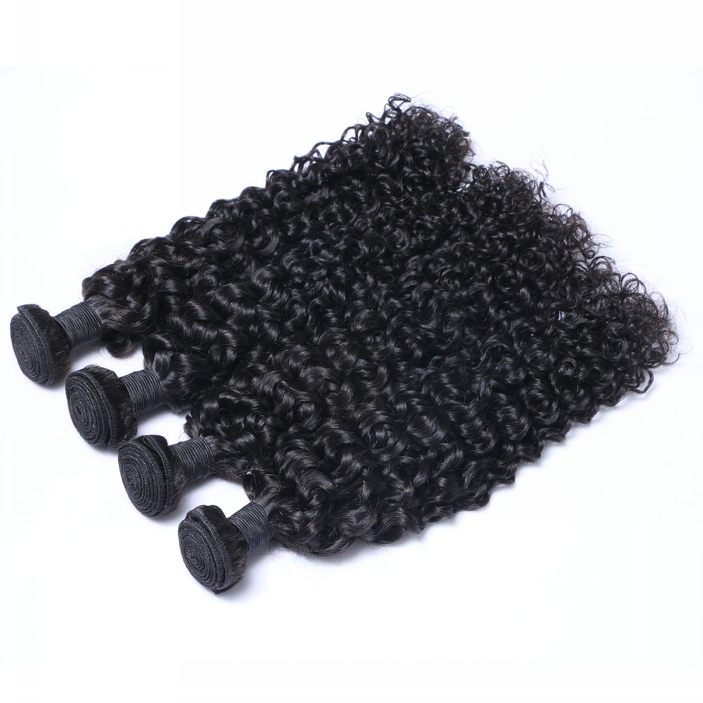 Stock virgin Brazilian human hair kinky curly hair weaving, remy hair weft zj0006