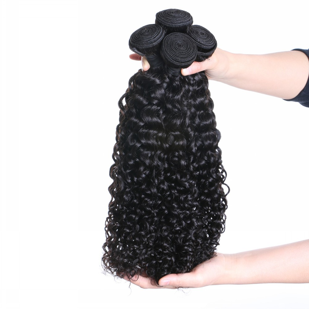 Kinky curly hair weft,Afro kiky curl hair weave natural black YL121