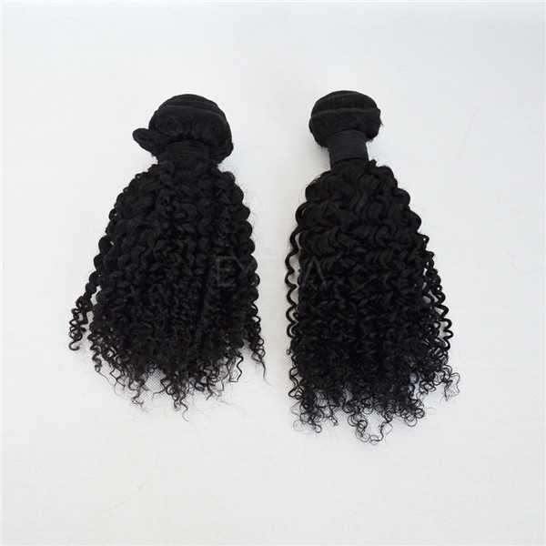 Natural unprocessed malaysian hair extensions afro curl kinky curly YJ161