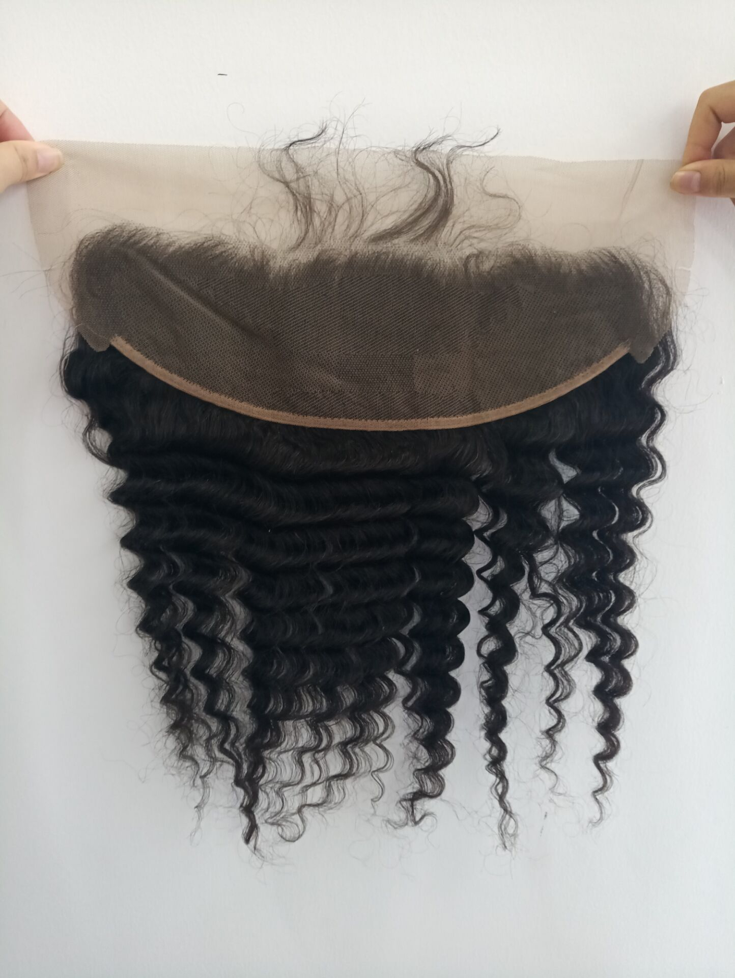 Human hair  Lace frontal Afro Kinky Curl with baby hair  YL098