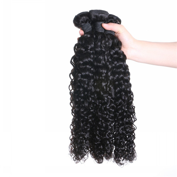 Brazilian Human Hair Remy Weave Bundles Curly Hair Unprocessed Good Virgin Hair Weft  LM412