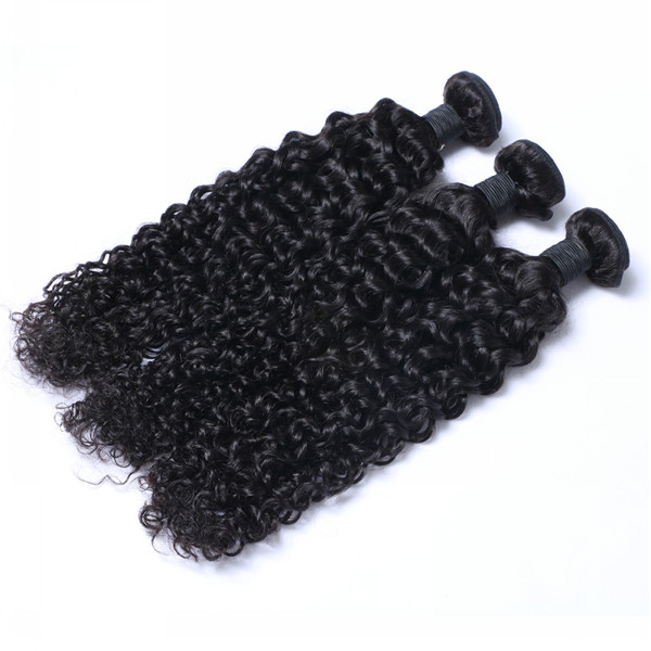 Virgin Hair Weft Hair Extensions Peruvian Human Hair Curly Hair Weave LM390