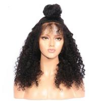 360 full lace wig human hair wigs for black women with baby hair Kinky curly human hair wigs HW0099