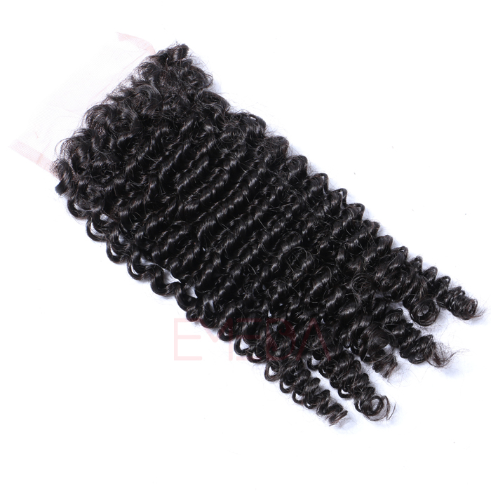 EMEDA Free Style Brazilian Hair Lace Closure kinky curly Baby hair HW051