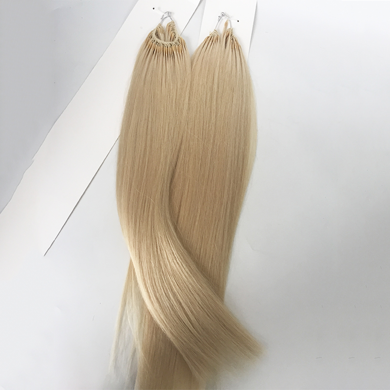 Double drawn knotted hair extensions cotton hair bundles  YL414