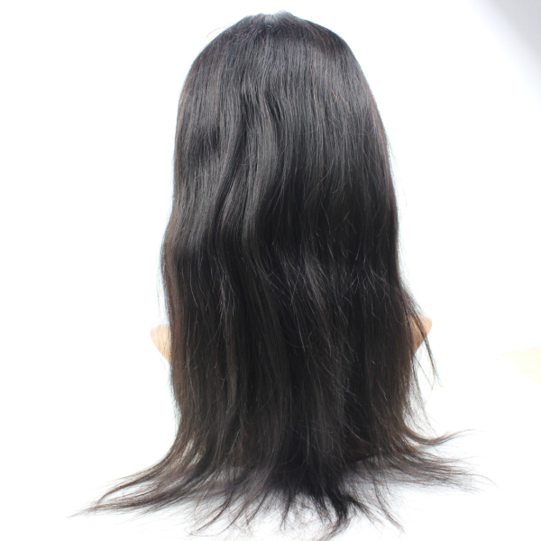 Silky straight lace human hair wigs natural hairline unprocessed glueless front lace wigs YL066