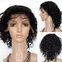 Curly Style and Human Hair Material Wigs Short Hair YL142