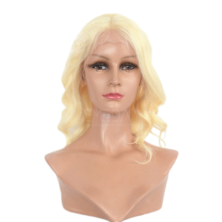 613 Wig Blonde Color Lace front with Slightly Wave WK006