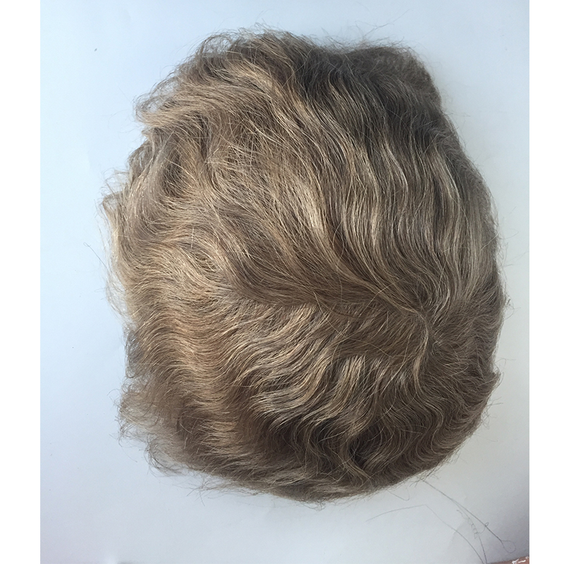 Thin slin base 004 light brown color toupees in stock  men hair piecesYL429