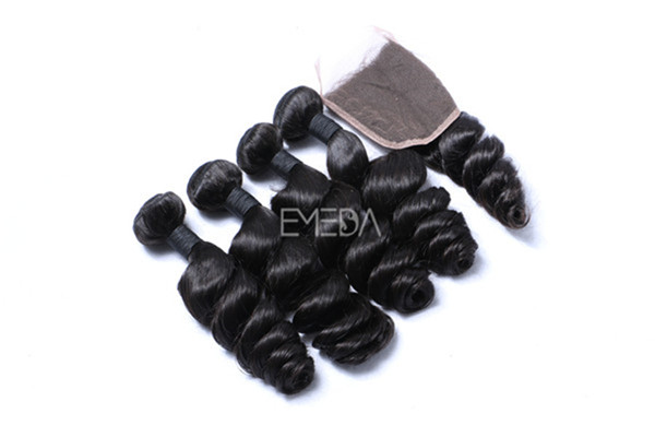Loose wave virgin hair weave on sale  ZJ0045
