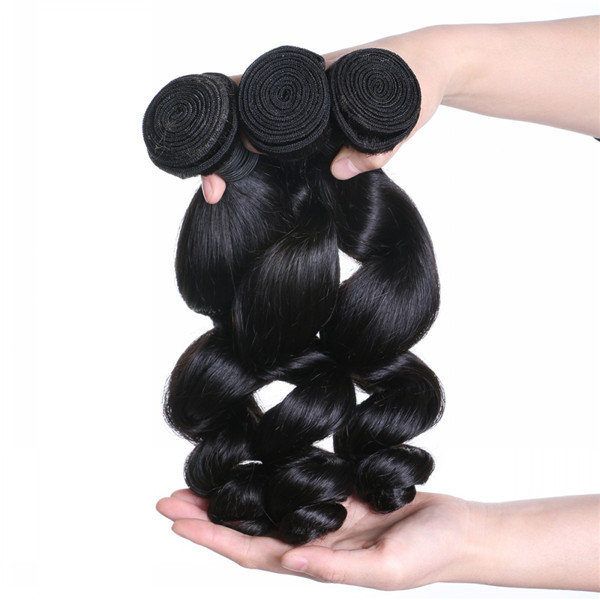 Raw Indian Human Virgin Hair Best Quality Loose Wave Hair Unprocessed Natural Hair Weave LM300