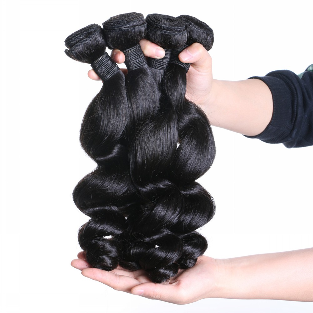 Human hair wefts wholesale best Loose wave YL039