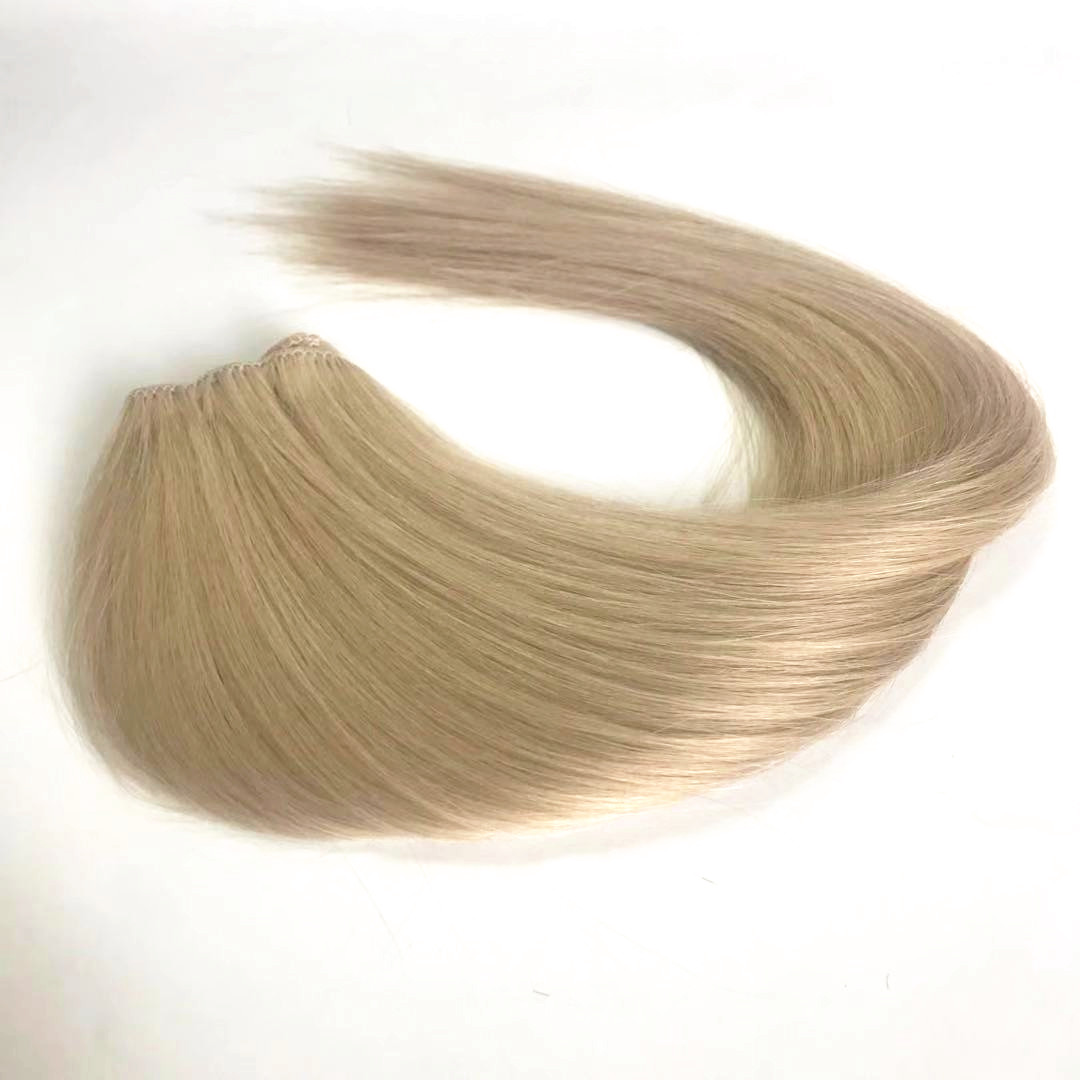 Best hair Chinese one donor cuticle hair mixed color #60 and #16 machines hair weft WK255